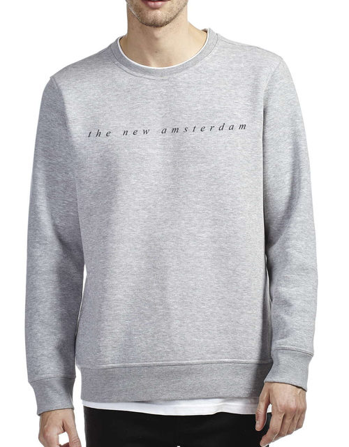 The New Amsterdam Crew Neck Sweatshirt - Grey