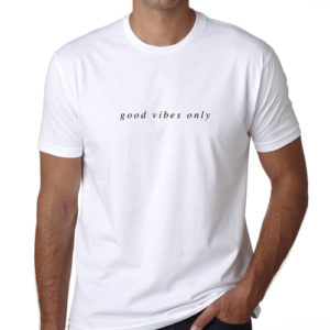 The New Amsterdam Good Vibes Only Tee - White